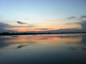 Sunset scenery in rainy season, Noyatola, Saidpur. Bangladesh.  বর্ষাকালে সূর্যাস্তের ছবি, নয়াটোলা, সৈয়দপুর।